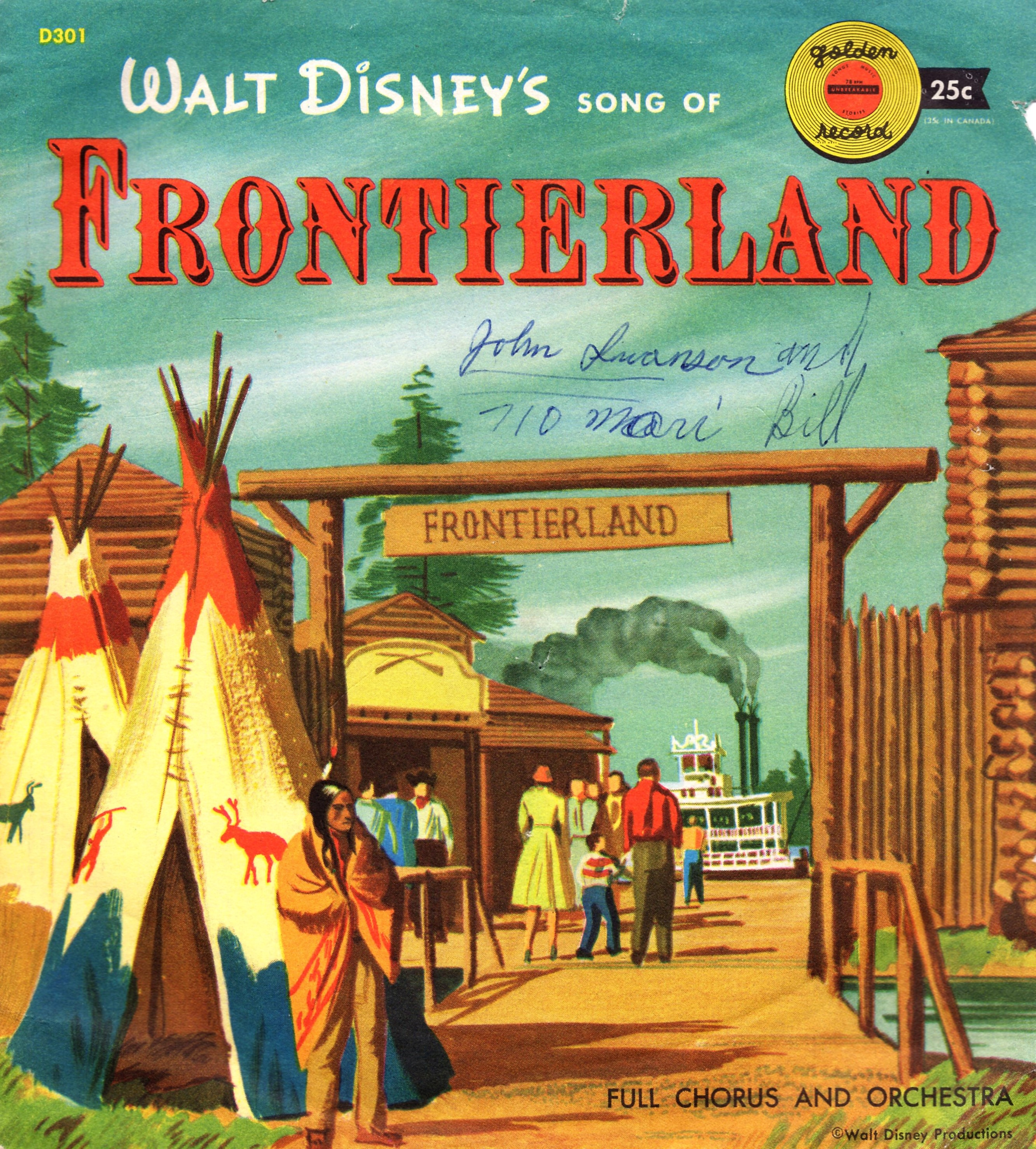 Walt Disney's Song of Frontierland Little Golden Record (1956)   DISNEY COLLECTOR ARCHIVES