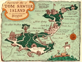 Tom Sawyer Island 1963 Back