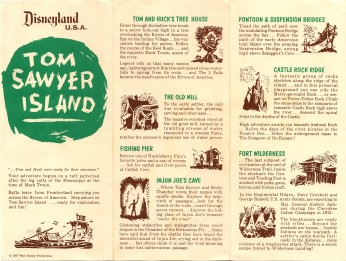 Tom Sawyer Island 1963 Map Front