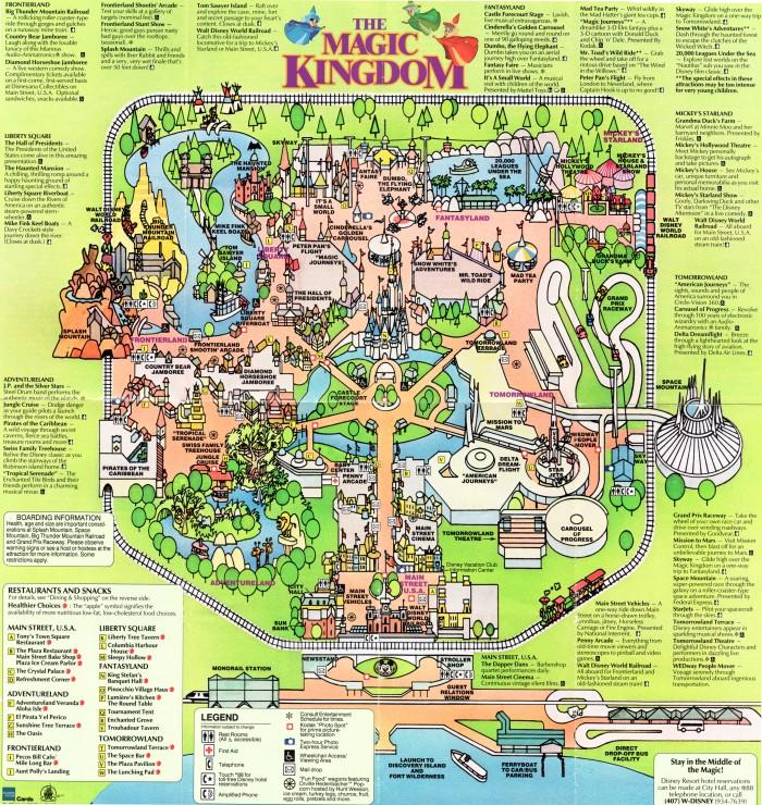 Walt Disney World Magic Kingdom Guide Map (1992) | DISNEY COLLECTOR on