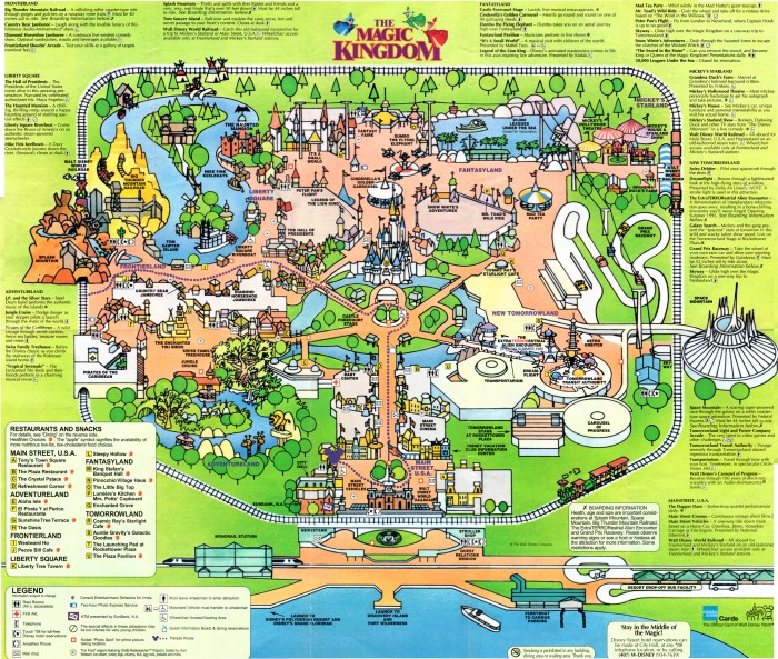 Walt Disney World Magic Kingdom Guide Map (1994) | DISNEY COLLECTOR ...
