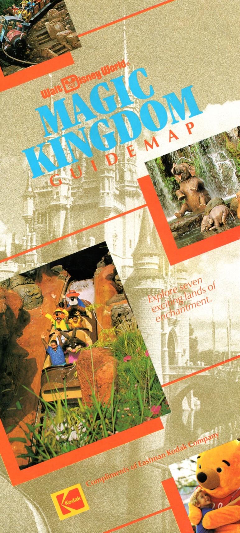 Walt Disney World Magic Kingdom Guide Map (1992)   DISNEY ...