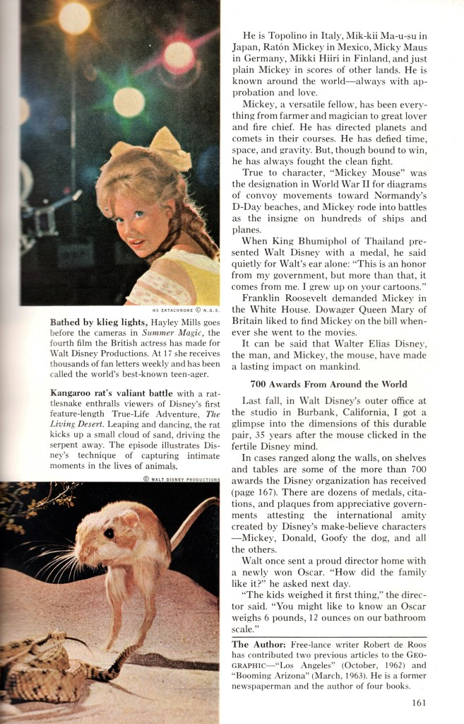 walt disney national geographic cover story 1963