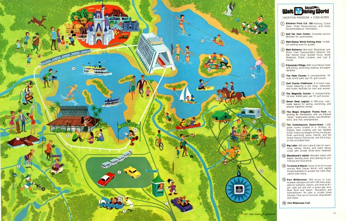 Walt Disney World Resort Map, 1971