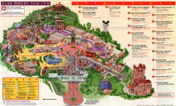 Disney-MGM Studios Guide Map: 10/8-10/12 (1997) | DISNEY ...