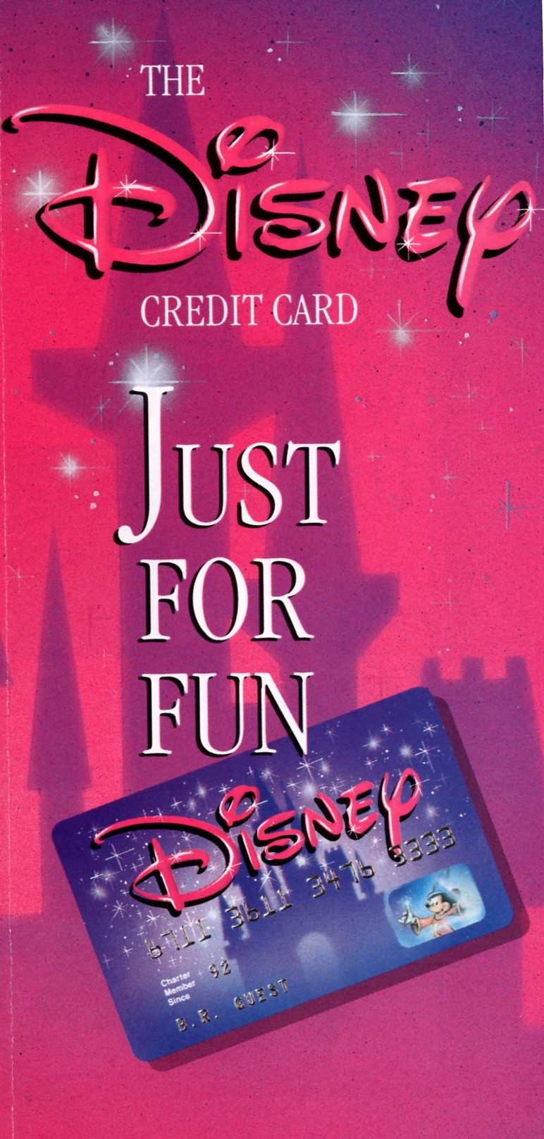 disney store credit card application
