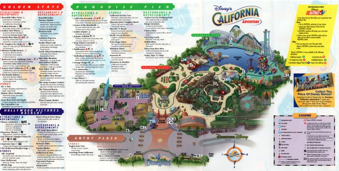 Souvenir Map and Guide to Disney's California Adventure: Grand ... on