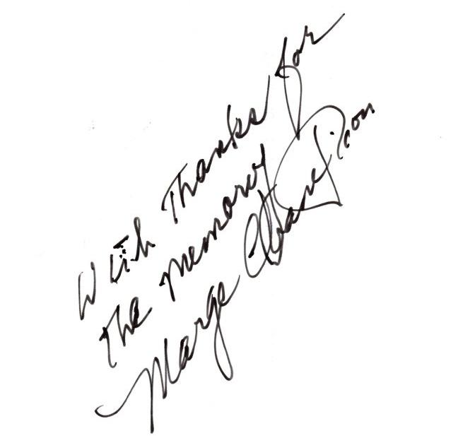 Marge Champion Signature