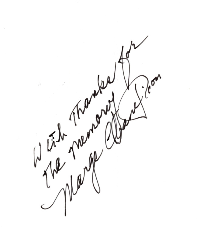 Marge Champion Signature