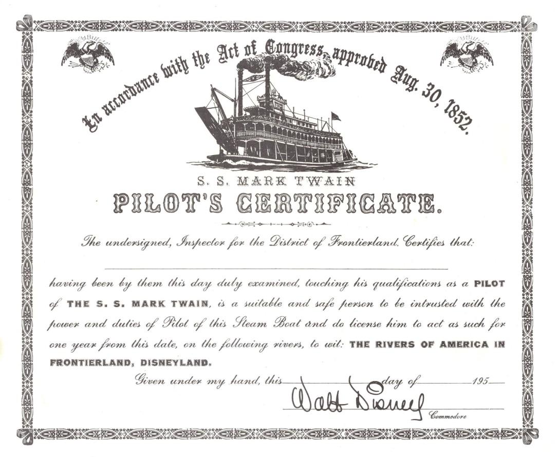 Mark Twain Pilot's License
