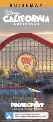 Pixar Pier Map