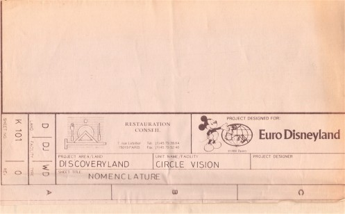 EuroDisney Blueprints